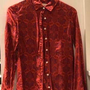 Button up paisley J Crew shirt